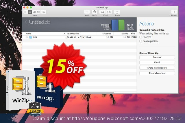WinZip for Mac 7 Pro discount 10% OFF, 2021 Spring offering sales