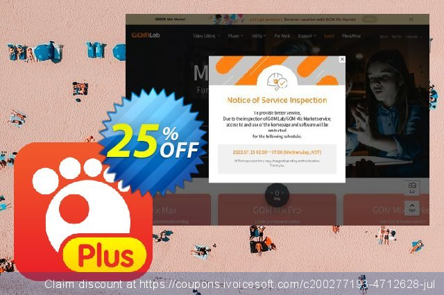 Get 25% OFF GOM Player Plus Special offering sales