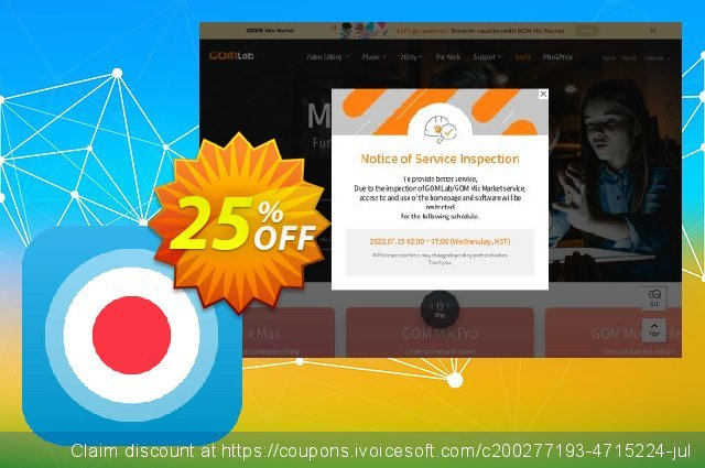 GOM Cam Special discount 25% OFF, 2020 College Student deals offering sales