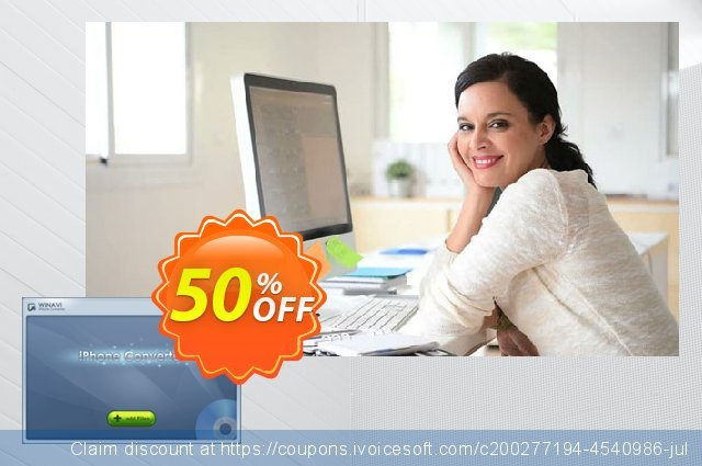 WinAVI iPhone Converter Site License discount 40% OFF, 2020 Back to School shopping offering sales