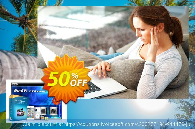 WinAVI FLV Converter discount 40% OFF, 2020 Back to School shopping offering discount