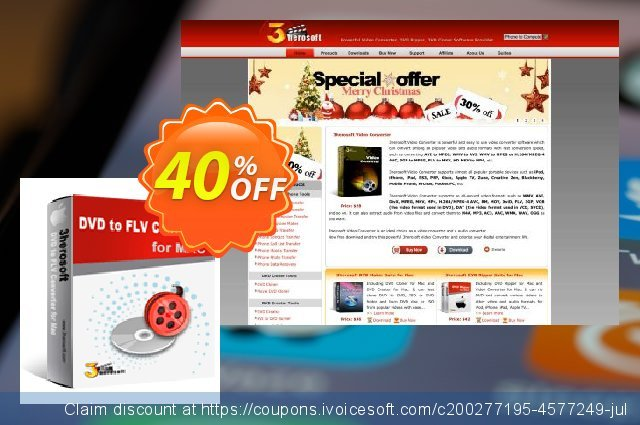 3herosoft DVD to FLV Converter for Mac discount 40% OFF, 2020 Exclusive Student discount offering discount