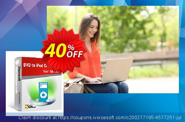 3herosoft DVD to iPod Converter for Mac discount 40% OFF, 2020 University Student offer offering deals