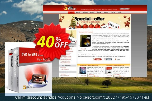 3herosoft DVD to MP4 Suite for Mac discount 40% OFF, 2020 Back to School coupons offering sales