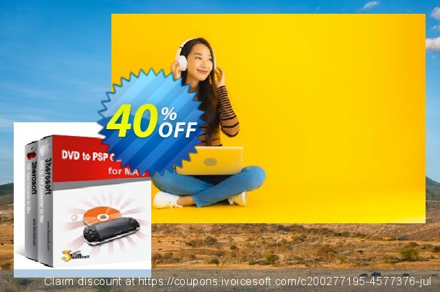 3herosoft DVD to PSP Suite for Mac discount 40% OFF, 2021 Happy New Year offering sales