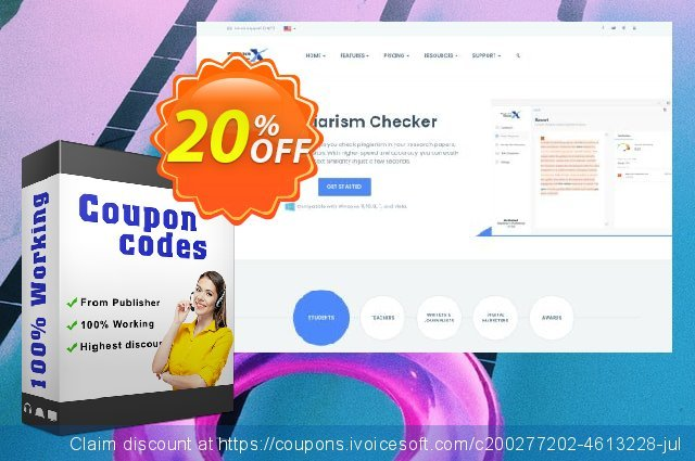 Plagiarism Checker X 2020 Professional Edition discount 20% OFF, 2021 Magic Day promo. Plagiarism Checker X 2021 Professional Edition Awful sales code 2021