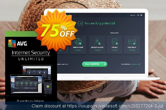 AVG Internet Security Unlimited  특별한   할인  스크린 샷