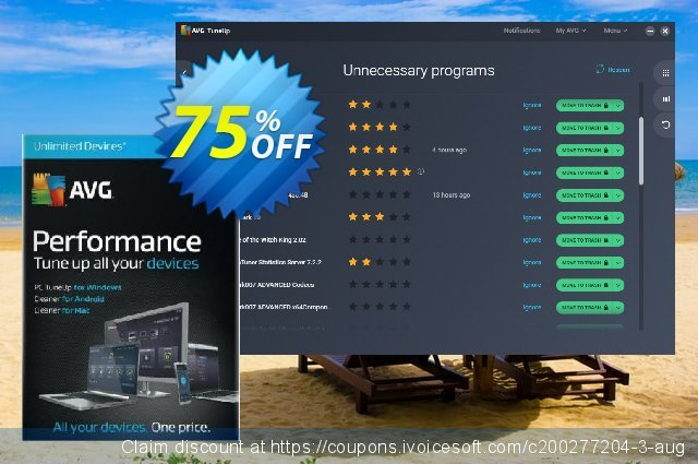 AVG TuneUp discount 33% OFF, 2020 Summer discount