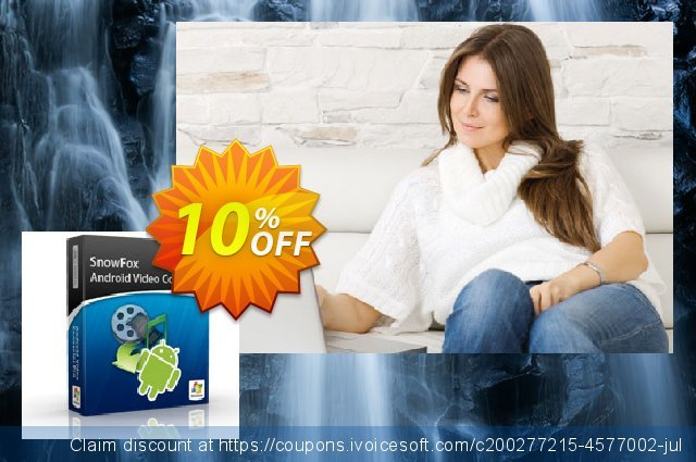 SnowFox Android Video Converter Pro discount 10% OFF, 2020 Back to School offer sales