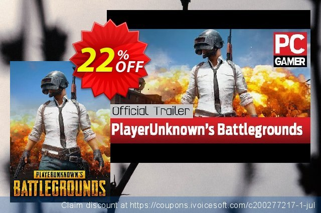 PlayerUnknowns Battlegrounds (PUBG) PC discount 70% OFF, 2020 Rose Day offering sales