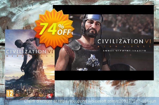 Sid Meier's Civilization VI 6 PC - Rise and Fall DLC (EU) discount 58% OFF, 2021 Happy New Year discount