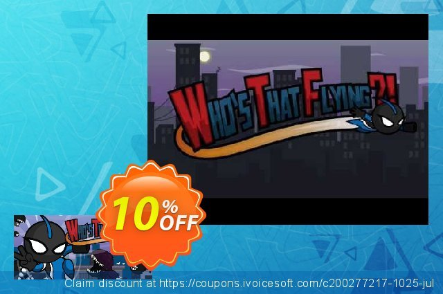 Who's That Flying?! PC discount 10% OFF, 2020 Halloween offering deals
