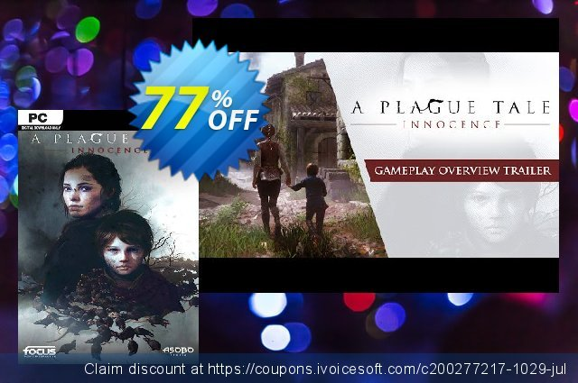 A Plague Tale: Innocence PC discount 58% OFF, 2020 College Student deals offering sales