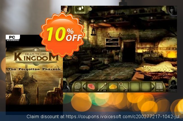 Escape The Lost Kingdom The Forgotten Pharaoh PC discount 10% OFF, 2020 Halloween offering discount