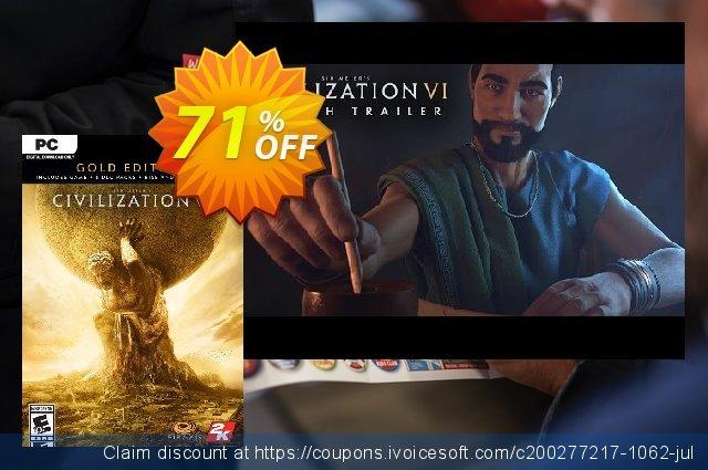 Sid Meier's Civilization VI 6 Gold Edition PC (EU)  최고의   세일  스크린 샷
