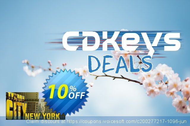 Tycoon City New York PC discount 10% OFF, 2020 Back to School Promos sales