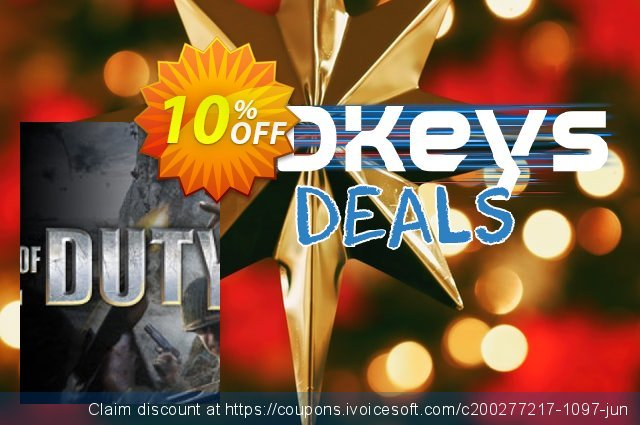 Call of Duty 2 PC discount 10% OFF, 2020 Back to School promotion deals