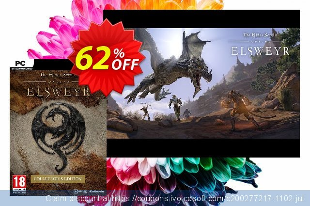 The Elder Scrolls Online - Elsweyr Collectors Edition PC discount 60% OFF, 2020 Back to School shopping offering deals
