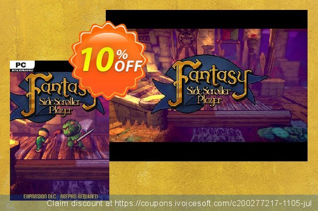 Axis Game Factory's AGFPRO Fantasy SideScroller Player PC discount 10% OFF, 2021 New Year's Weekend deals