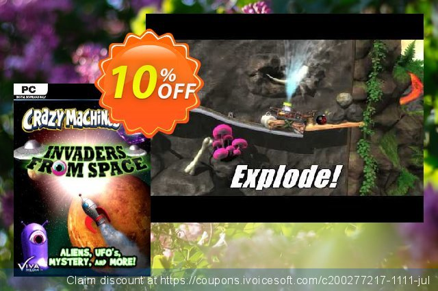 Crazy Machines 2 Invaders from Space PC discount 10% OFF, 2020 University Student deals offering sales