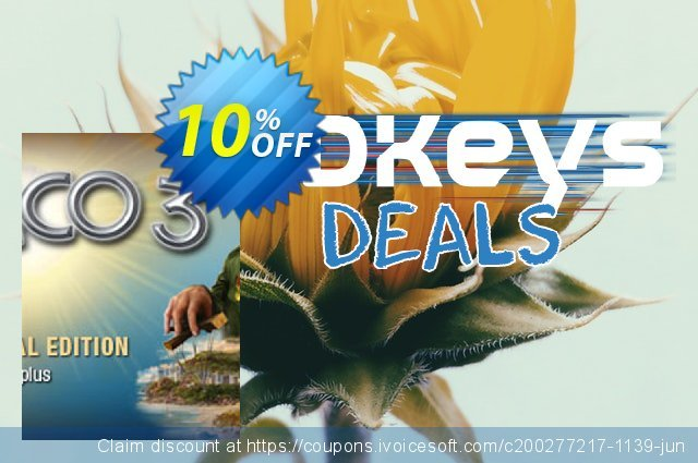Tropico 3 PC discount 10% OFF, 2020 Back to School promotion offering sales