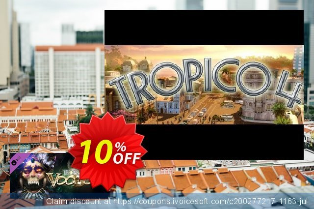 Tropico 4 Voodoo DLC PC discount 10% OFF, 2020 Back-to-School promotions offering sales