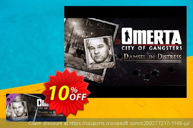 Omerta City of Gangsters Damsel in Distress DLC PC discount 10% OFF, 2020 Back to School offer offering sales