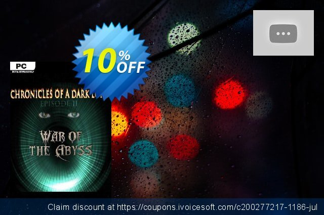 Chronicles of a Dark Lord Episode II War of The Abyss PC discount 10% OFF, 2020 Back to School deals offering sales
