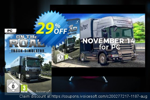 On The Road - Truck Simulator PC discount 47% OFF, 2020 Back to School offer offering sales
