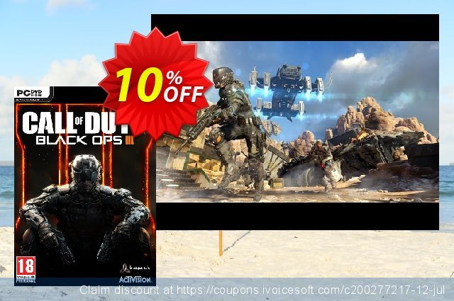 Call of Duty (COD): Black Ops III 3 (PC) discount 34% OFF, 2021 Mother Day offering sales. Call of Duty (COD): Black Ops III 3 (PC) Deal
