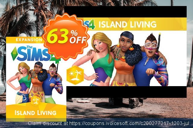 The Sims 4 - Island Living Expansion Pack PC discount 49% OFF, 2020 New Year's Weekend offering discount
