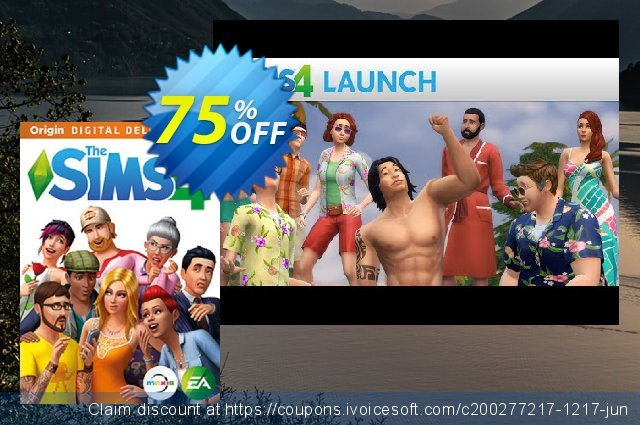 The Sims 4 - Deluxe Edition PC discount 75% OFF, 2020 Teacher deals promo sales