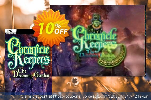 Chronicle Keepers The Dreaming Garden PC discount 10% OFF, 2020 College Student deals offering sales