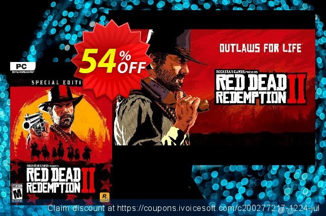 Red Dead Redemption 2 - Special Edition PC discount 48% OFF, 2020 Back to School promo offering sales