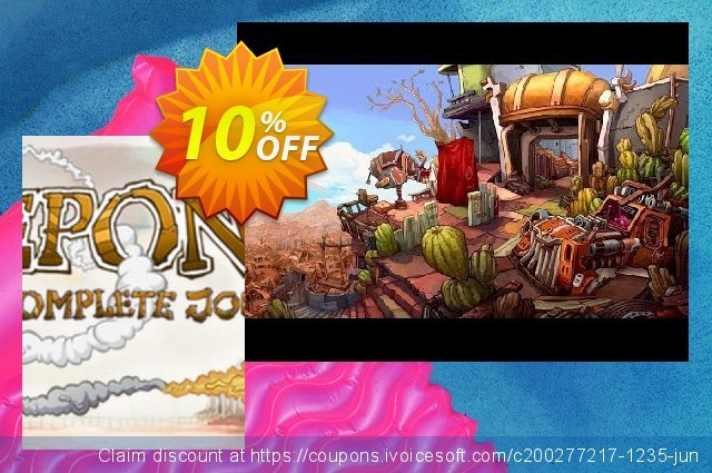 Deponia The Complete Journey PC discount 10% OFF, 2020 Exclusive Teacher discount offering deals