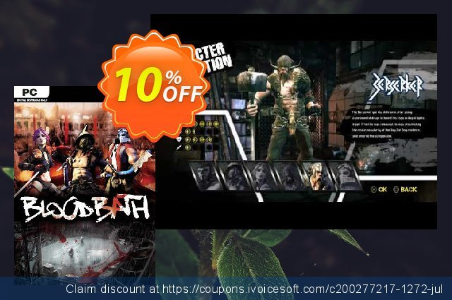 Bloodbath PC discount 10% OFF, 2020 Back to School coupons offering sales