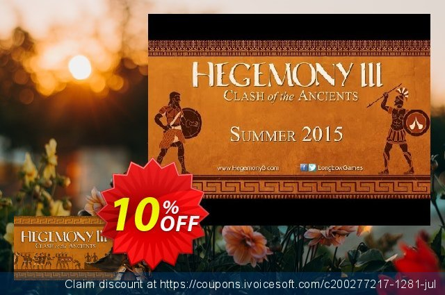 Hegemony III Clash of the Ancients PC discount 10% OFF, 2020 College Student deals offering sales