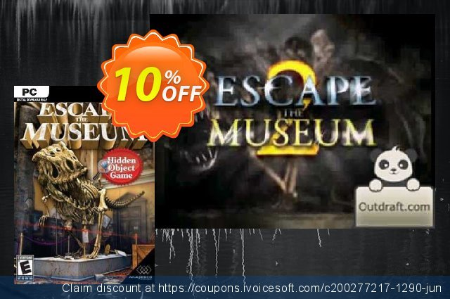 Escape The Museum PC discount 10% OFF, 2020 Back to School deals offering discount