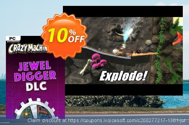 Crazy Machines 2 Jewel Digger DLC PC discount 10% OFF, 2020 Teacher deals offering sales