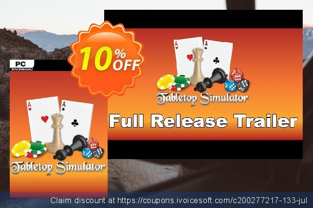 Tabletop Simulator PC discount 10% OFF, 2021 Mother's Day deals. Tabletop Simulator PC Deal
