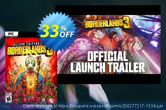 Borderlands 3 Deluxe Edition PC + DLC (US/AUS/JP) 气势磅礴的 扣头 软件截图