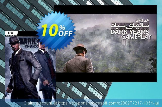 Dark Years PC discount 10% OFF, 2020 Back to School event promo