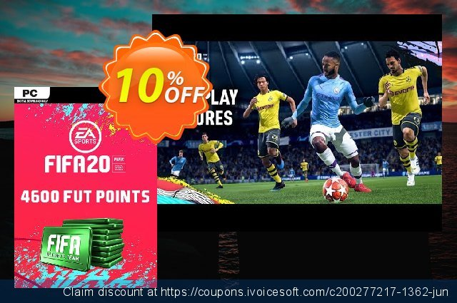 FIFA 20 Ultimate Team - 4600 FIFA Points PC discount 10% OFF, 2020 Halloween deals