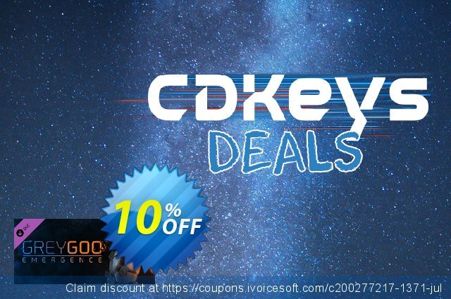 Grey Goo Emergence Campaign PC discount 10% OFF, 2020 Back to School promo offering sales