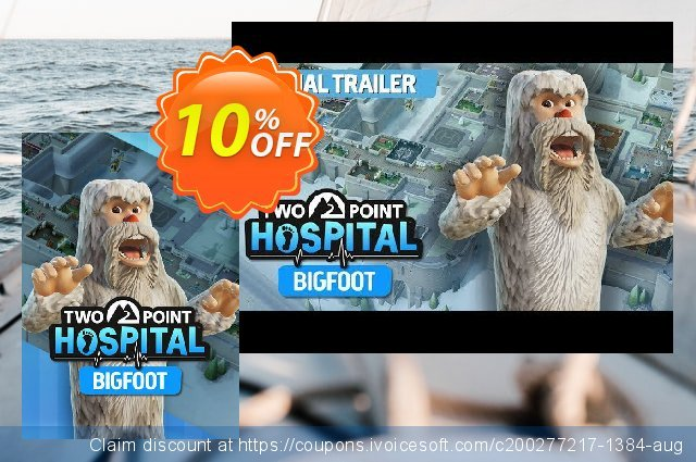 Two Point Hospital PC Bigfoot DLC discount 50% OFF, 2020 University Student deals discount