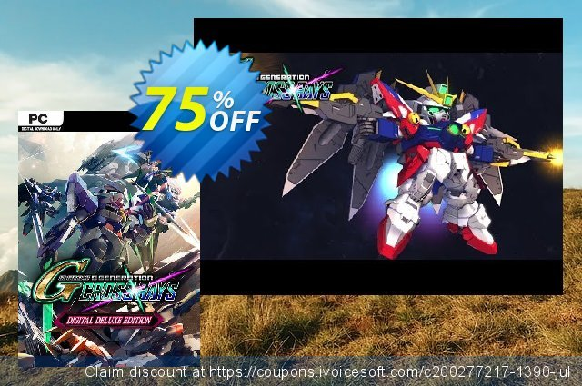 SD Gundam G Generation Cross Rays Deluxe Edition PC + Pre-order Bonus 惊人 折扣码 软件截图
