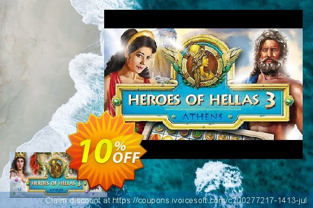 Heroes of Hellas 3 Athens PC discount 10% OFF, 2020 Back to School promo offering sales
