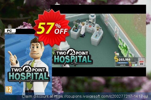 Two Point Hospital PC discount 40% OFF, 2020 Back to School shopping discounts