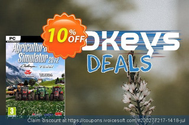 Agricultural Simulator 2012 Deluxe Edition PC discount 10% OFF, 2020 Halloween sales