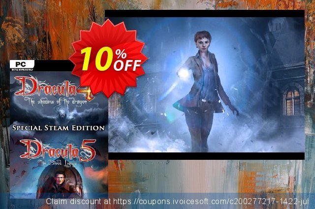 Dracula 4 and 5 Special Steam Edition PC discount 10% OFF, 2020 Student deals discount